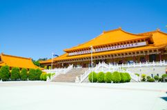 Nan Tien Temple is one of the largest Buddhist temples in the southern hemisphere, located in the industrial suburb of Berkeley. WOLLONGONG, AUSTRALIA stock image