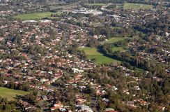 Wollongong city and suburbs Stock Photography