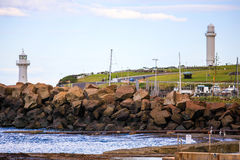 Wollongong hamn, Australien Arkivfoto