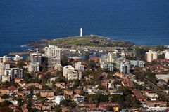 Wollongong-Stadt und Vororte Stockfotografie