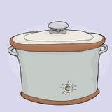 Wolna kuchenka z deklem ilustracja wektor
