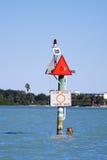Wolna prędkość podpisuje wewnątrz Zatoka Tampa Obrazy Stock