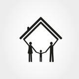 wolna ręka rysunkowy rodzinny dom Obrazy Stock
