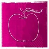 wolnej ręki jabłczana rysunkowa ikona ilustracja wektor