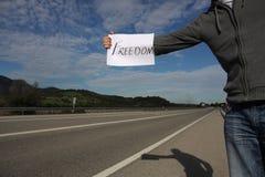 wolność autostopowicz Obraz Royalty Free
