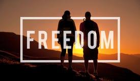 Wolność Emancypujący prawa człowieka swobody pojęcie fotografia stock