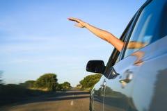 Wolność i samochodu wakacje podróży pojęcie Obrazy Royalty Free