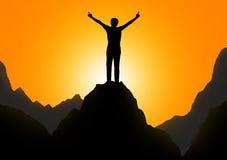 Wolność i sukces Fotografia Stock