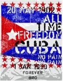 Wolność Kuba ilustracja wektor