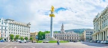 Wolność kwadrat Tbilisi Obrazy Royalty Free