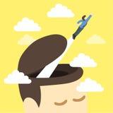 Wolność mężczyzna mądra komarnica z głowy ilustracji