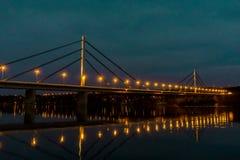 Wolność most Najwięcej Slobode na Danube rzekę w Novi Sad, Serbia obraz stock