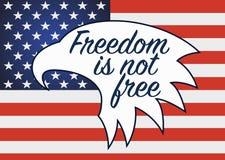 Wolność no jest Bezpłatna Weterana dzień w usa Fotografia Stock