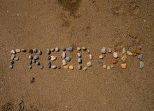Wolność piasek Fotografia Stock