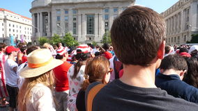 Wolność placu tłum zdjęcie wideo