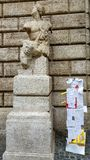 Wolność słowa protestuje przy Paquino statuą, Rzym, Włochy zdjęcia royalty free