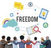 Wolności Bezpłatnej inspiraci niezależności Emancypacyjny pojęcie obrazy royalty free
