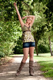 wolności blond target1844_0_ dziewczyna ona Zdjęcie Royalty Free