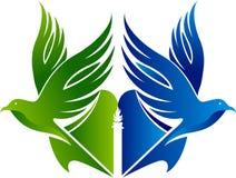 Wolności edukacji jaskrawy logo ilustracja wektor