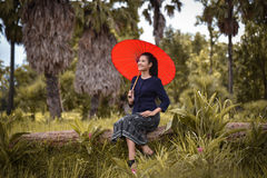Wolności lata czas - rolnictwo kobiety Fotografia Stock