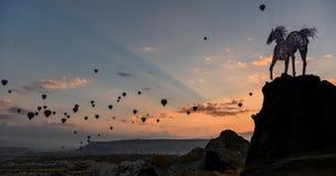 Wolności & latania balony Obraz Stock