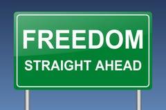 Wolność prosto naprzód Fotografia Royalty Free