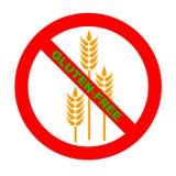 wolny gf glutenu symbolu tekst Obrazy Stock