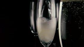 Wolny mo Jeden trzy szkła nalewa szampańskiego wino zbiory wideo