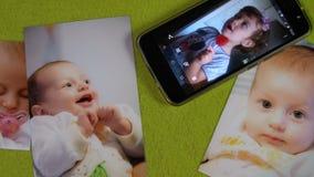 Wolny panning piękne dziecko fotografie FDV i wisząca ozdoba zbiory