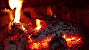 Wolny spalanie graby ogienia zbliżenie zbiory wideo