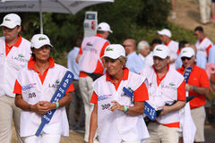 Wolontariuszi przy golfowym frenchem open 2015 Zdjęcie Royalty Free