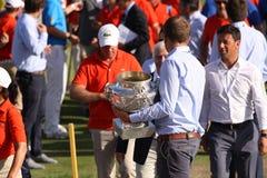 Wolontariuszi przy golfowym frenchem open 2015 Zdjęcia Royalty Free
