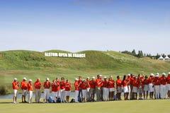 Wolontariuszi przy golfowym frenchem open 2015 Zdjęcia Stock