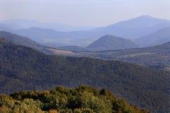 Wolosatkavallei en het Nationale Park van Uzanski in Bieszczady-Bergen in Polen Stock Fotografie
