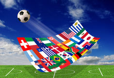 World soccer Royalty Free Stock Image