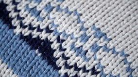 Wolsweater met een patroon stock video