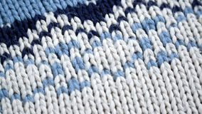 Wolsweater met een patroon stock footage