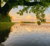Wolsztyn, ПОЛЬША - живописное место озером Стоковое Изображение RF