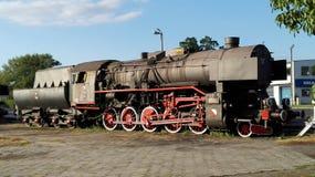 Wolsztyn. Poland, Wolsztyn. A view of beautiful locomotive Ty43 Royalty Free Stock Photo