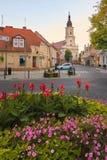Wolsztyn, POLEN - 27. August 2017: Gemeinde-Kirche an Koscielna-Straße lizenzfreie stockfotos