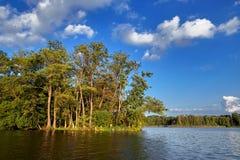 Wolsztyn, POLONIA - un posto pittoresco dal lago Immagine Stock
