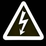 Woltażu wysoki Znak Obraz Stock