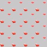 Wolumetryczni czerwoni serca Fotografia Stock