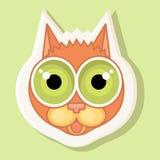 Wolumetryczny majcher z przedstawiającym kotem Emocja czupiradło, niespodzianka Zdjęcie Stock