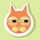 Wolumetryczny majcher z przedstawiającym kotem Emocja podejrzenie Zdjęcie Stock