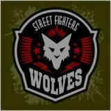 Wolven - militaire etiket, kentekens en ontwerp Stock Afbeelding