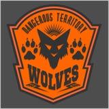 Wolven - militaire etiket, kentekens en ontwerp Stock Afbeeldingen