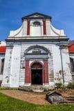 Wolvendaal教会-荷兰语被改革的VOC教会的门面在科伦坡,斯里兰卡 库存图片