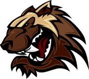 Wolverine Badger Mascot Head Vector Illustration Royalty Free Stock Photos