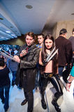 Wolverine and X-23 cosplay Royalty Free Stock Image